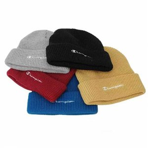 Wholesale Champion Brand Hats Beanies Cap Brand Designer Winter Crochet Slouchy Hats Warm Snow Ski Warm Skull Cap Youth Hip Hop Knitted Beanie B9303