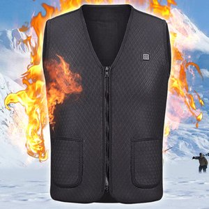 Wholesale Heater Hunting Vest Heated Jacket Heating Winter Clothes Men Thermal Outdoor Sleeveless Vest Hiking Climbing Fishing