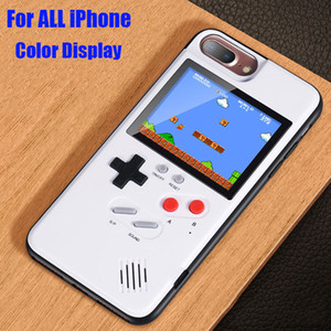 Wholesale Game boy Soft TPU Phone Case For iPhone X XS Max XR Plus Color Display Classic Game Console Silicone Cover