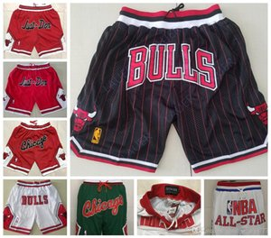 Just Don Bulls Michael MJ Rose Chicago Rodman New Breathable Pippen Pants Sweatpants Team Classic Sportswear Wear All-Star Shorts on Sale
