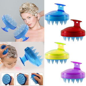 Wholesale 1Pcs Silicone Shampoo Brush Hair Washing Comb Salon Shower Bath Brush Wide Tooth Comb Styling Hair Head Massage Spa brush