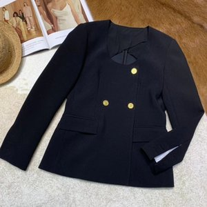 Wholesale Jacket Coat Women Office Lady Elegant Double Breasted Full Sleeve Jacket Women Autumn Outwear
