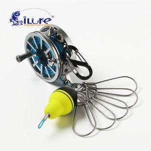 Wholesale iLure New Fishing Lock Buckle With Reel Stainless Steel Lanyard Live Fish Lock Belt Fishing Tackle Stringer Floats Reel