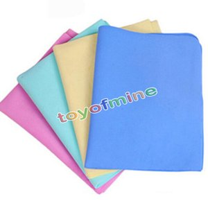Wholesale pet dog Multi functional synthetic chamois towel PVA bath hair car washing towels absorbent dry towel