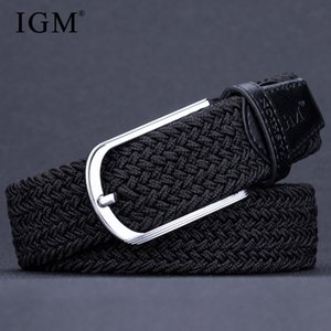Wholesale Fat and thin men and women are suitable for elastic woven belts elastic canvas belts can be adjusted arbitrarily
