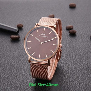 Wholesale Gold Coffee Mens womens Daniel Wellington watches DW mm Men watches mm Women Watches DW Quartz Watch Female Clock Relogio Montre Femme