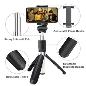 Wholesale 3 in Wireless Bluetooth Selfie Stick For iPhone Universal Mobile Phone Tripod Bracket Mini Extendable Handheld Monopod