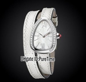 Wholesale New Fashion Jewellery Watches SPS27WSDL Steel Case Diamond Bezel White Dial Swiss Quartz Womens Ladies Watch White Leather ab2