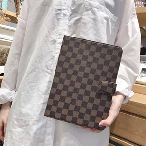 Wholesale Vintage Plaid Print Flip Leather Fashion Case for iPad Checkerboard Pattern Square Lattice Bracket Holster Protective Shell with Card Slot