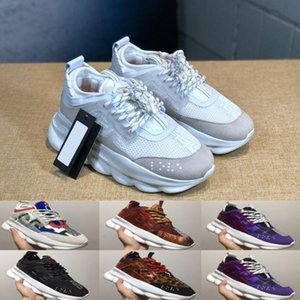 Wholesale Qualitys Chain Reaction Love Sneakers Women Mens Triple Black Lightweight Link Embossed Sole Designer Luxury Trainers Casual Shoes
