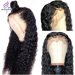 Wholesale Modern Show Remy Hair Water Wave Lace Frontal Human Hair Wigs Pre Plucked Brazilian Human Lace Wig Density