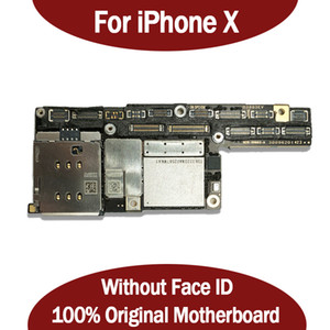 100% Original Motherboard For iPhone X Factory Unlock Mainboard No Face ID With Full Chips IOS System Logic Board Good Working