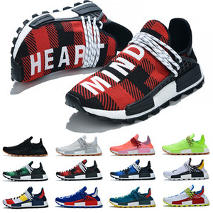 Wholesale Discount Human Race Running Shoes Pharrell Williams Men Women Solar Pack Black White Red Green Mens Trainer Athletic Sports Sneakers