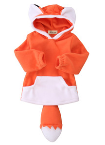 Emmababy 2017 0-4Y Kids Baby Boys Clothes Baby Girls Hoodies Cute Animal Fox Cartoon Hooded Sweatshirt Winter Thick Sweater