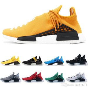 Human 2019 Race Trail Running Shoes Men Women Pharrell Williams Hu Runner Yellow Black White Red Green Grey Blue Sport Runner Sneaker