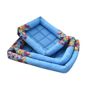 Wholesale Summer Big Dog Pad Ice Dog House Cool Breathable Durable Blue Rose Red Kennel Easy To Clean Mats