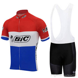 BIC 2019 Cycling Jersey Men short sleeve ropa ciclismo verano hombre bike Wear shorts set triathlon team Cycling Clothing