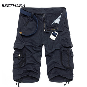 Wholesale Bsethlra New Men Summer Hot Sale Work Short Pants Camouflage Military Brand Clothing Fashion Mens Cargo Shorts C19040101