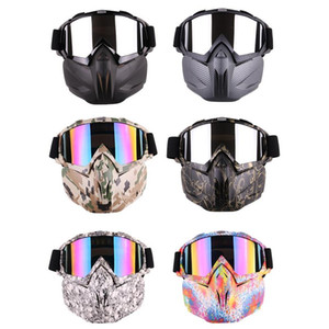 Winter Men Women Ski Snowboard Snowmobile Goggles Snow Windproof Skiing Glasses Motocross Cool Sunglasses With Face Mask