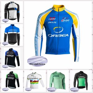 Wholesale ORBEA team Winter Cycling jersey tops Outdoor Mountain bike mens Thermal Fleece Riding Sports clothing free delivery Q81502