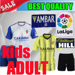 Wholesale 2019 Real Zaragoza home adult kids Gual soccer jersey 19 20 Zaragoza yellow child Eguaras alvaro Vazque Soro 2020 men football shirts shorts