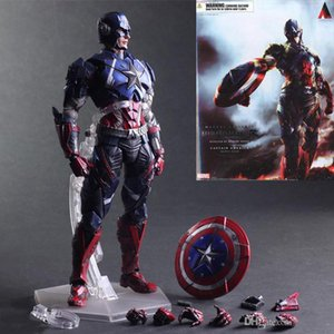 Wholesale Movie Figure CM The Avengers Captain America Joint movable PVC Action Figure Model Collectible Toy doll lol kids toys
