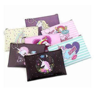 Wholesale Cartoon Unicorn coin purses women mini wallets cute card holder ladies key money bags for girls purse Female kids children pouch