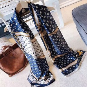 Wholesale 2019 hot silk scarf spring summer women s scarf silk printed fashion design shawl cm soft silk shawl