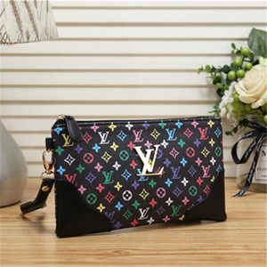 Wholesale Cheap Colorful Small Wallet For Women New Fashion Lady Luxury Leather Canvas Hand Bags Zipper Clutch Bag