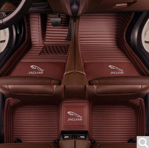 Wholesale Fit Jaguar F PACE Car Floor Mats Front Rear Liner Accessories Non slip waterproof leather Carpets Auto Luxury Pads LOGO