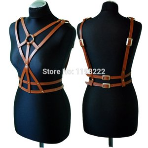 Wholesale Fashion Sexy Women Cross Leather Harness Handcrafted Body Bondage Sword Belts Waist Straps