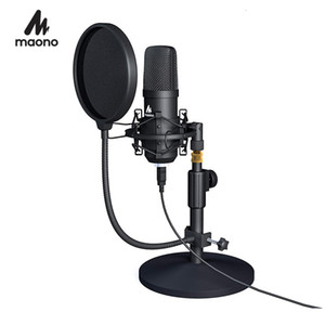 Wholesale gaming kits for sale - Group buy MAONO USB Microphone Kit Professional Podcast Streaming Microphone Condenser Studio Mic for Computer YouTube Gaming Recording T191021