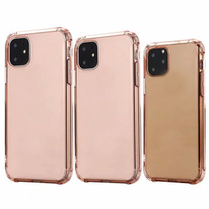 Wholesale Clear Soft TPU Case For Iphone New inch Cell Phone Back Skin Rose Gold Shockproof Crystal Blank Luxury Silicon Cover