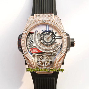 montre mécanique japon  achat en gros de-news_sitemap_homeMeilleure version mm K Rose Diamant Diamant Glafe Out Bezel Japon Miyota Automatique Mechanical Hommes Montre Steel Sport Montres Sport en caoutchouc