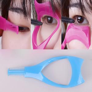 Eyelash Tools 3 in 1 Makeup Mascara Shield Guide Guard Curler Eyelash Curling Comb Lashes Cosmetics Curve Applicator Comb