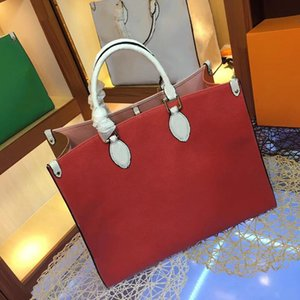 Large Shopping bags 41cm Designer Shoulder Bag Contrast Color Beach bags Genuine Leather Handbag Crossbody Purse Messenger Handbags on Sale