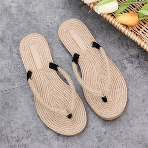 Wholesale Shoes Summer Women s Trendy National Style Slippers Weave Roman Style Beach Flip Flops Women Slippers Summer Outdoor