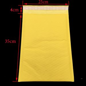 Wholesale Extra Large pc cm cm Yellow Bubble E mail Packaging Envelope Packaging Shipping Bags Kraft Paper Bags E mail