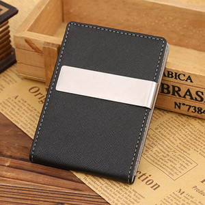 billetera podadoras al por mayor-Unisex Money Clipper Card Wallet PU Leather Money Clamp Monedero Chic Card Holder Pocket Pocket Bolsas Regalo para Hombres Mujeres