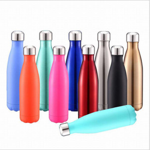 500ML Stainless Steel Cola Bowling Shape Bottle Water Cup Insulation Mug Cola Vacuum Bottle Sports Travel Mugs