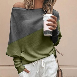Wholesale Sweater Women Off Shoulder Knitted Top Pullover Loose Batwing Long Sleeve korean style women Jumper blusas de inverno feminina