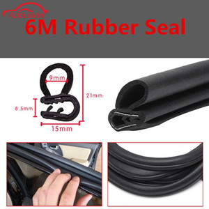Freeshipping 6 M Black Car Edge Protector U-shaped Rubber Auto Door Noise Insulation Anti-Dust Soundproof Sealing Strips Trim