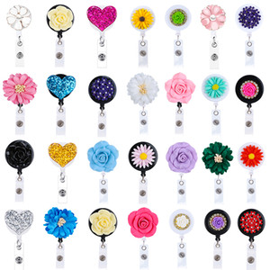 Wholesale 2019 inches Retractable Badge Reels Reel Clip Nurse Teacher Company Staff Office ID Name Badge Holder with Belt Clip