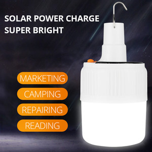 SHENYU Rechargeable LED Bulb Lamp Solar Charge Portable Emergency Night Market Light Outdoor Camping