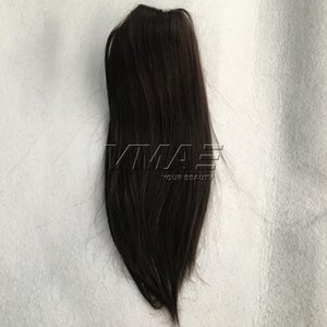 Wholesale 16 613 hair resale online - VMAE Brazilian Straight Inch g Natural Color Clip in Drawstring Ponytails Virgin Human Hair Extension