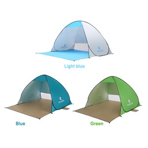 Wholesale 190T Silver coated Automatic Camping Tent Ship From RU Beach Tent Persons Tent Instant Pop Up Open Anti UV Awning Tents Outdoor Sunshelter