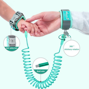 360°Anti Lost Wrist Link Traction Rope Toddler Kids Safety Harness Leash Strap Wrist Lock Two Colors Random Delivery