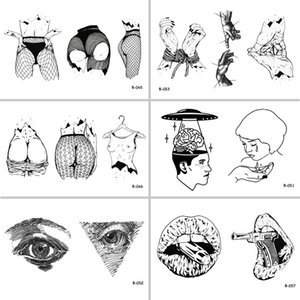 Wholesale Sexy Woman Body Mouth Gun Eyes Waterproof Temporary Tattoo Stickers for Adults Body Art Fake Tatoo for Women Tattoos D19011203