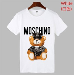 2019 Summer New Moschin O Tee Cotton Short Sleeve Breathable Men Women Moschinos Swing Bear Casual Outdoor Streetwear T-shirts on Sale