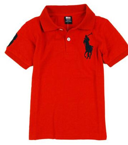 Wholesale 2019 Fashion Kids Polo t Shirt Children Lapel Short sleeves T shirt Boys Tops Clothing Brands Solid Color Tees Girls Classic Cotton T shirts